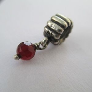 Pandora garnet dangle bead 925 ALE